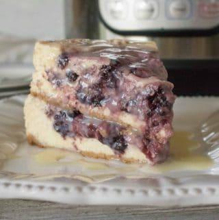 instant pot blackberry cheesecake