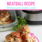 meatball sliders on a plate with instant pot in the background