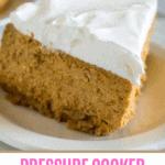 pumpkin cheesecake on white plate