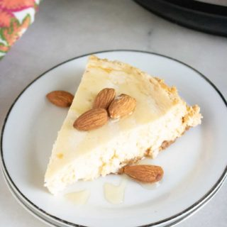 New York Cheesecake on white plate