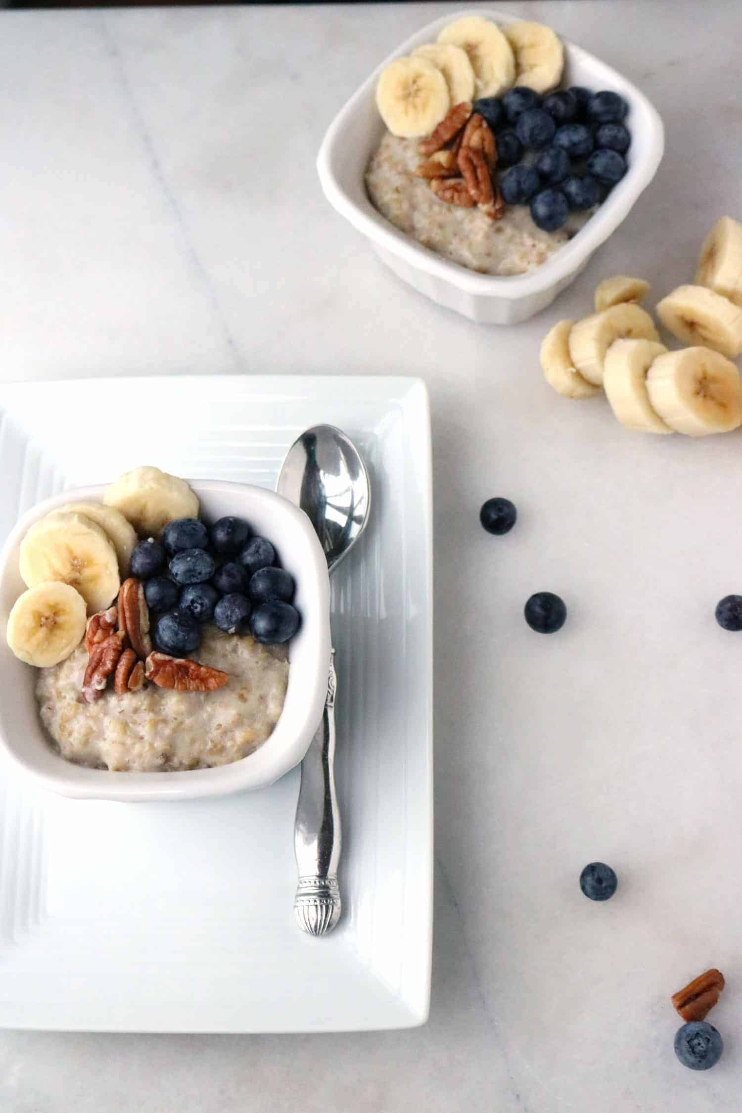 blueberry and banana oatmeal