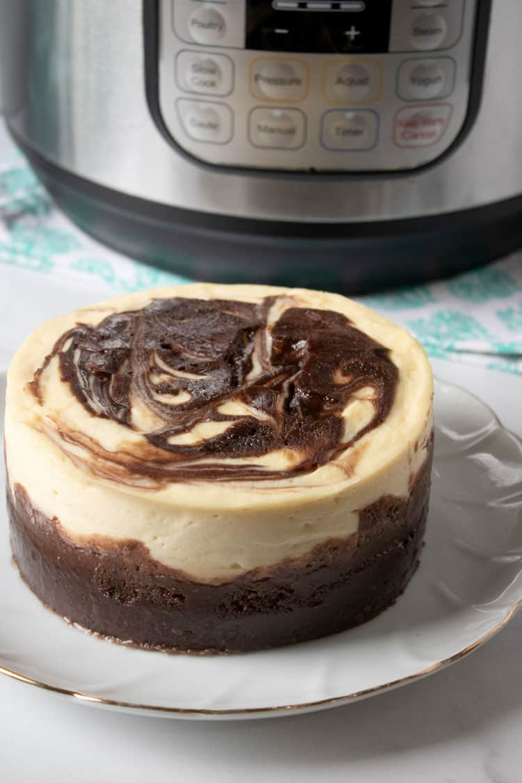 finished brownie swirl cheesecake