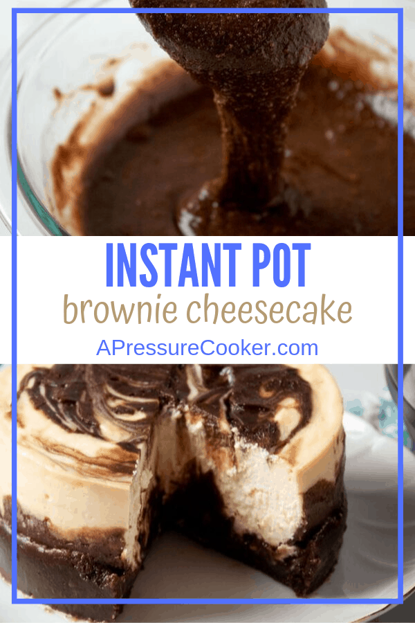 Instant Pot Brownie Cheesecake