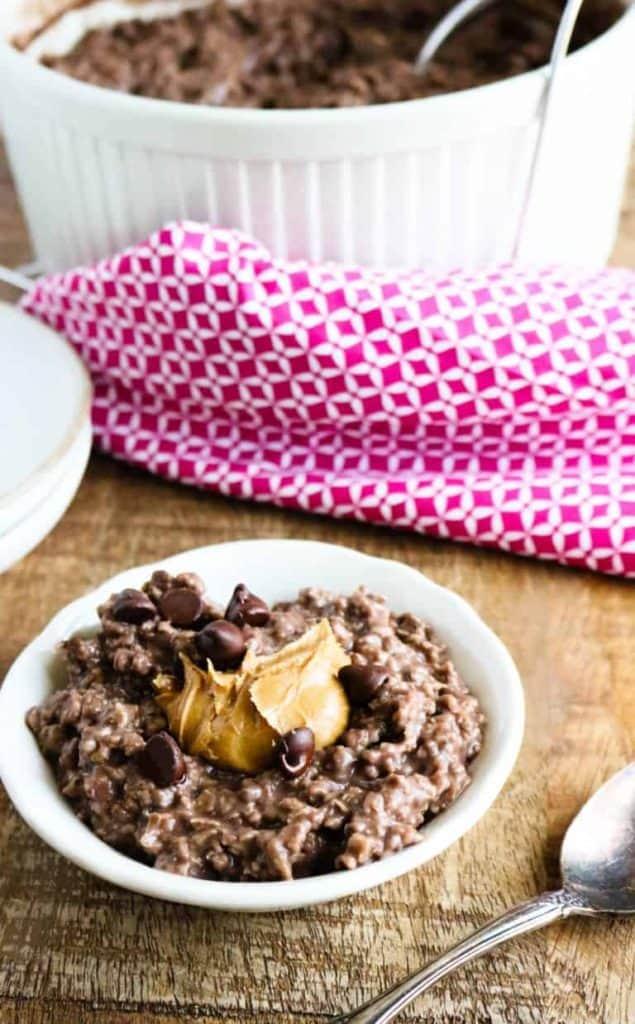 chocolate peanut butter oatmeal