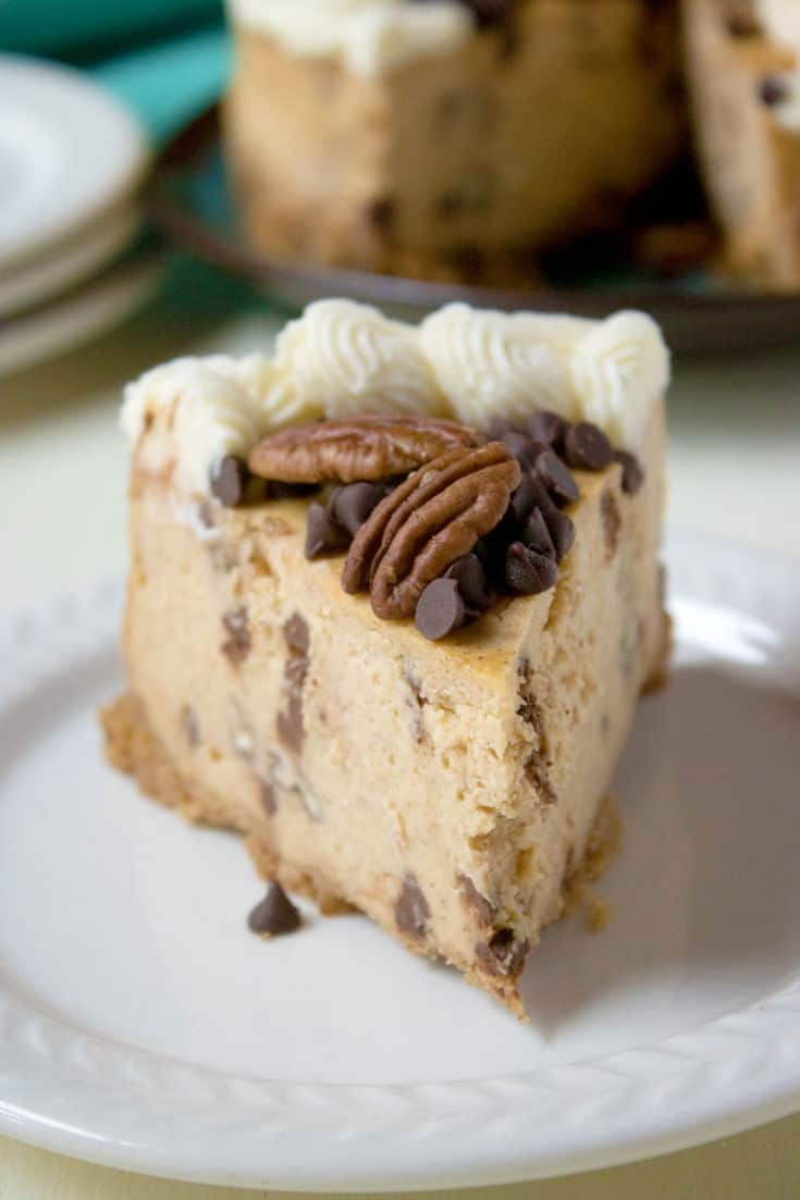 Instant Pot Pumpkin Cheesecake with Pecans and Chocolate Chips
