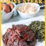 swiss steak on white platter
