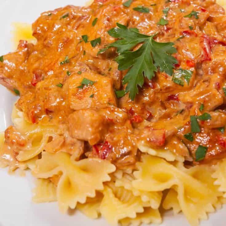 Instant Pot Creamy Tomato Chicken Dinner Recipe