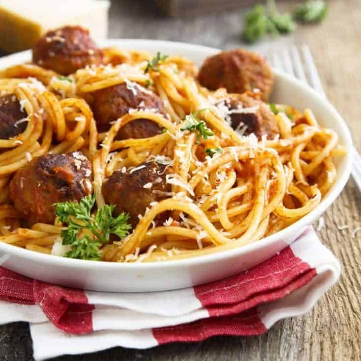 Instant Pot Spaghetti and Meatballs Recipe