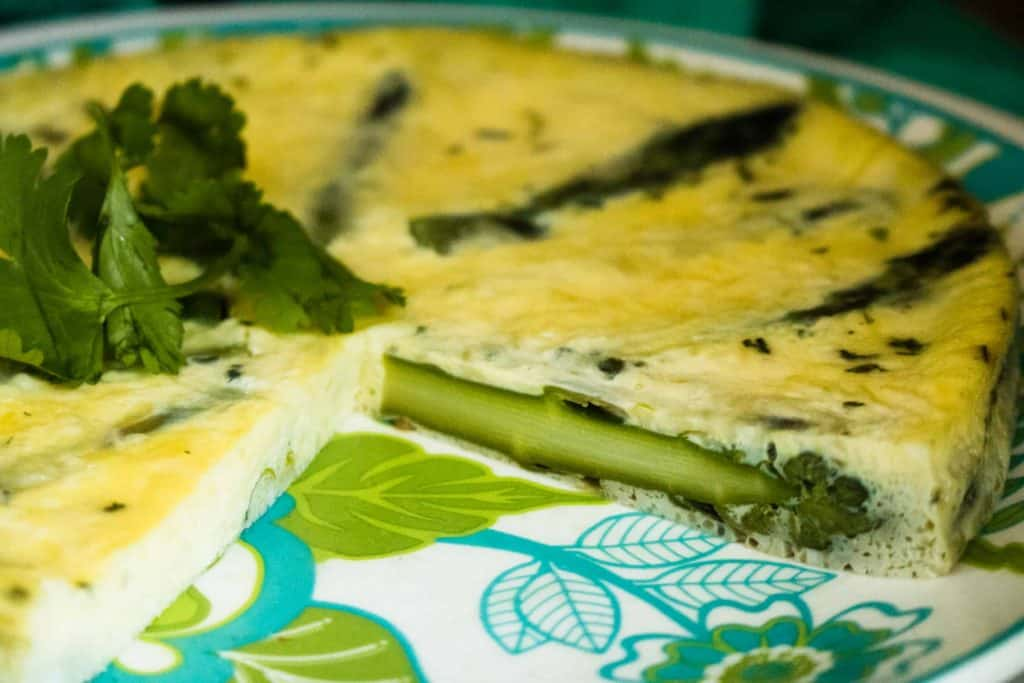 Asparagus Parmesan Frittata on plate