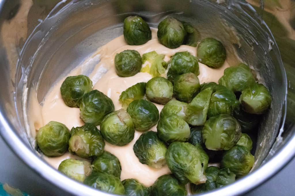 Brussels sprouts in Instant Pot