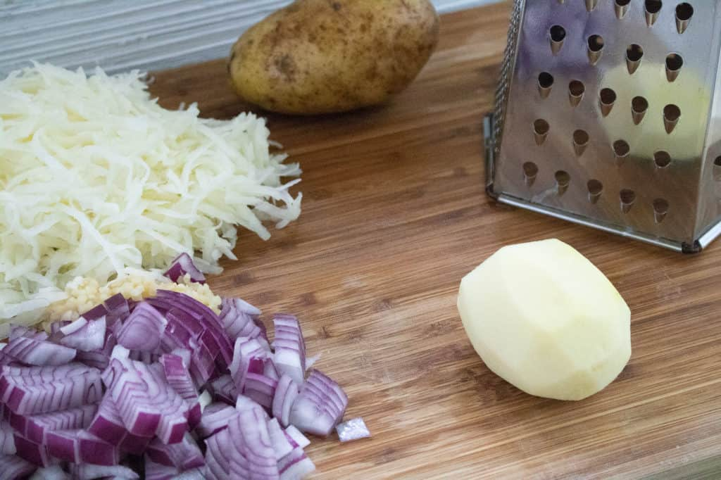 Ingredients used for Cheesy Potatoes