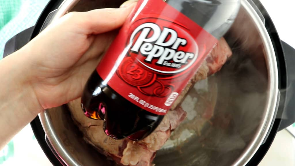 Pour Dr. Pepper over your pulled pork