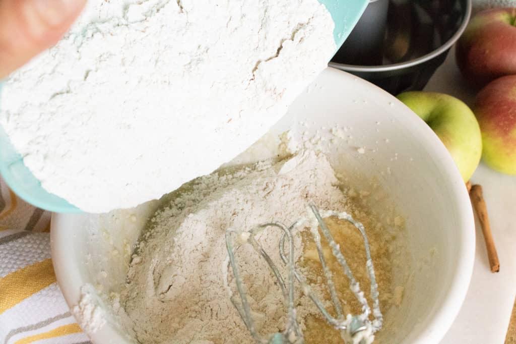 Spray a small bundt pan