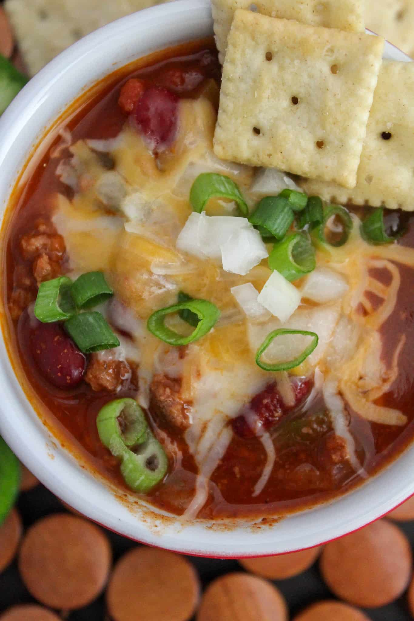 Instant Pot Chili With Ground Beef And Homemade Chili Seasoning A Pressure Cooker