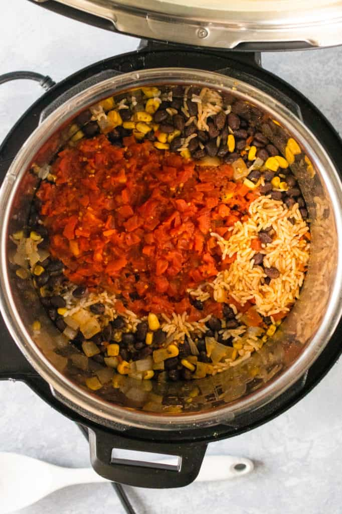 beans and rice with cheese in instant pot