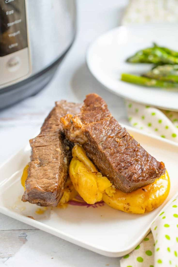 Instant Pot Boneless Beef Short Ribs w/ Smashed Potatoes