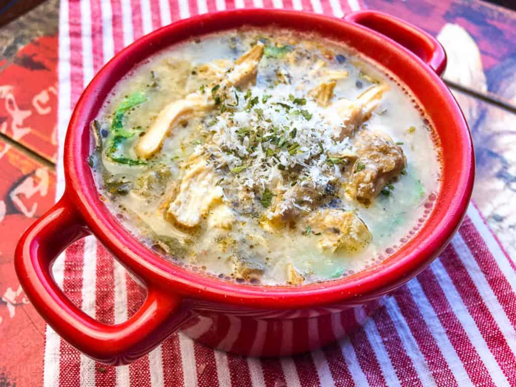 Chicken Florentine Soup