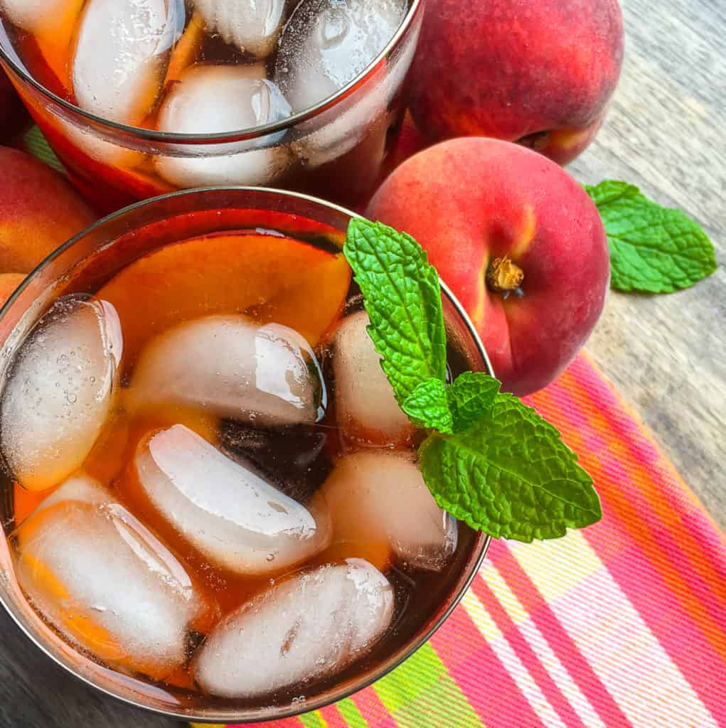 Instant Pot peached ice tea