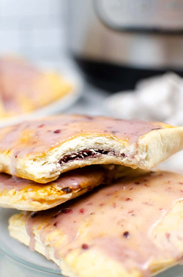 Semi Homemade Pop Tarts with Blackberry Jam Filling