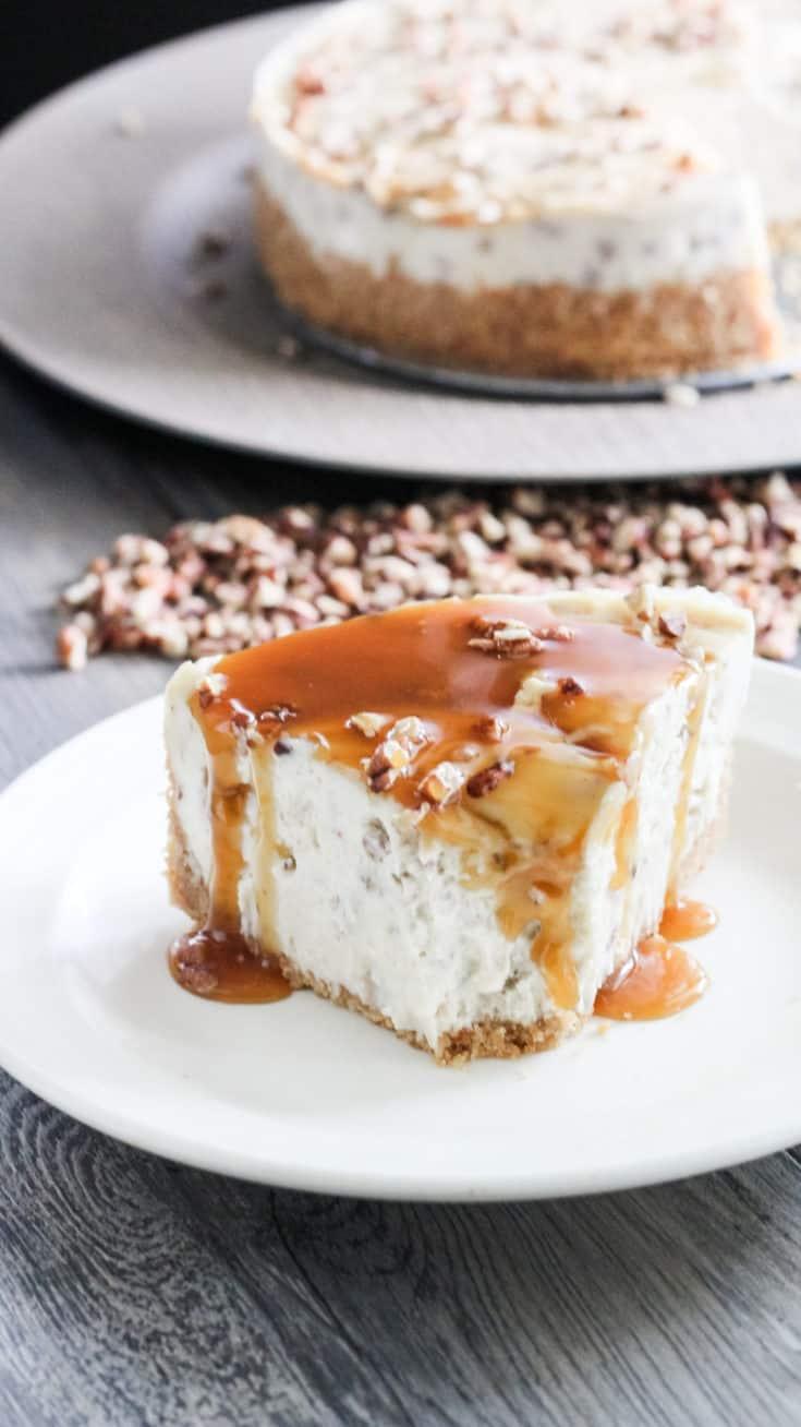 caramel pecan cheesecake instant pot