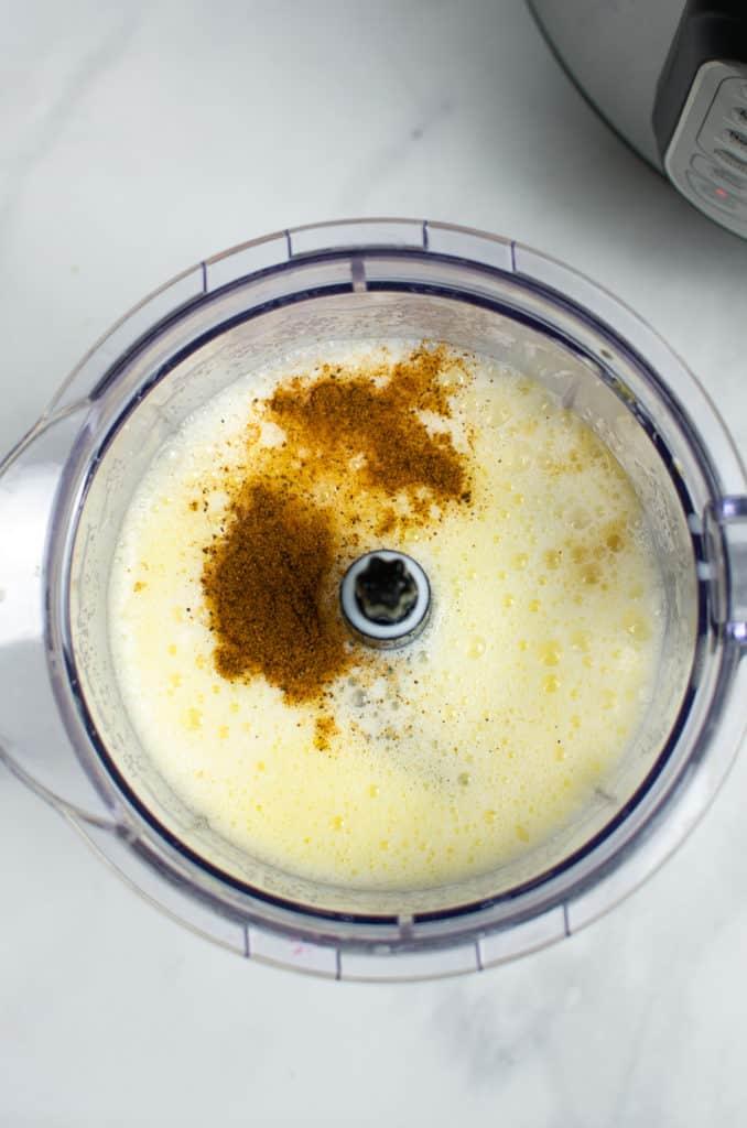 Instant Pot Eggnog in blender