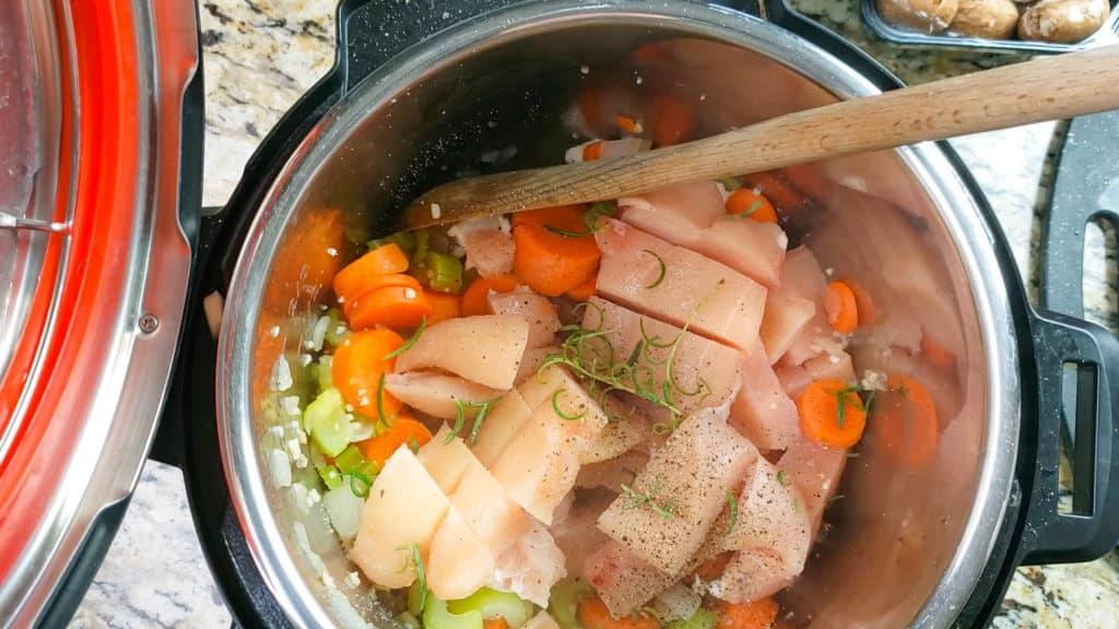 instant pot chicken stroganoff