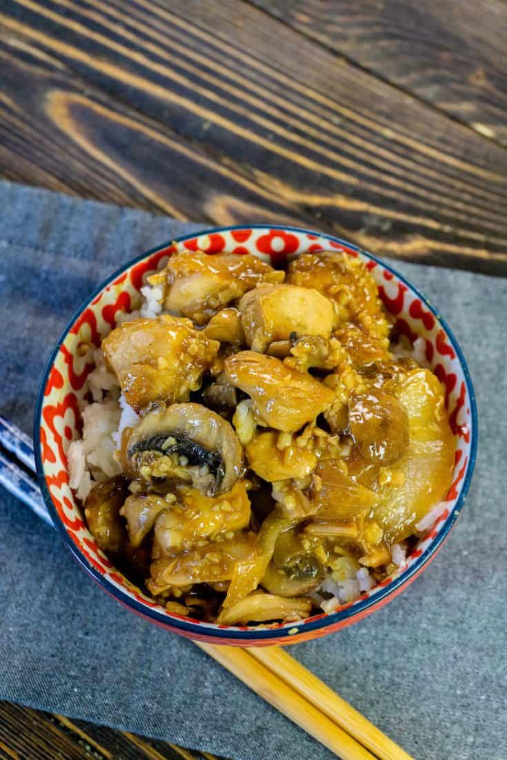 Instant Pot Teriyaki Mushroom Chicken