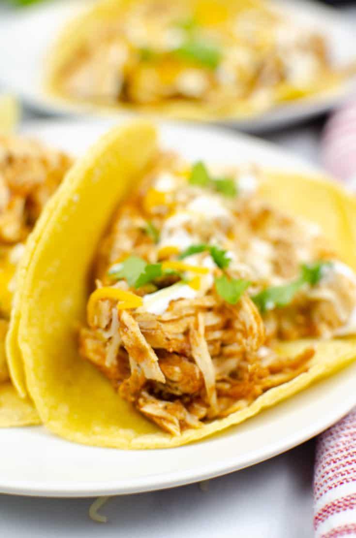 Chicken Salsa Tacos Instant Pot