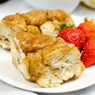 Instant Pot Monkey Bread on white plate