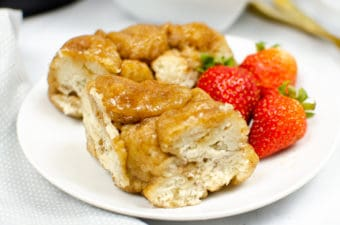 Instant Pot Monkey Bread on white plate