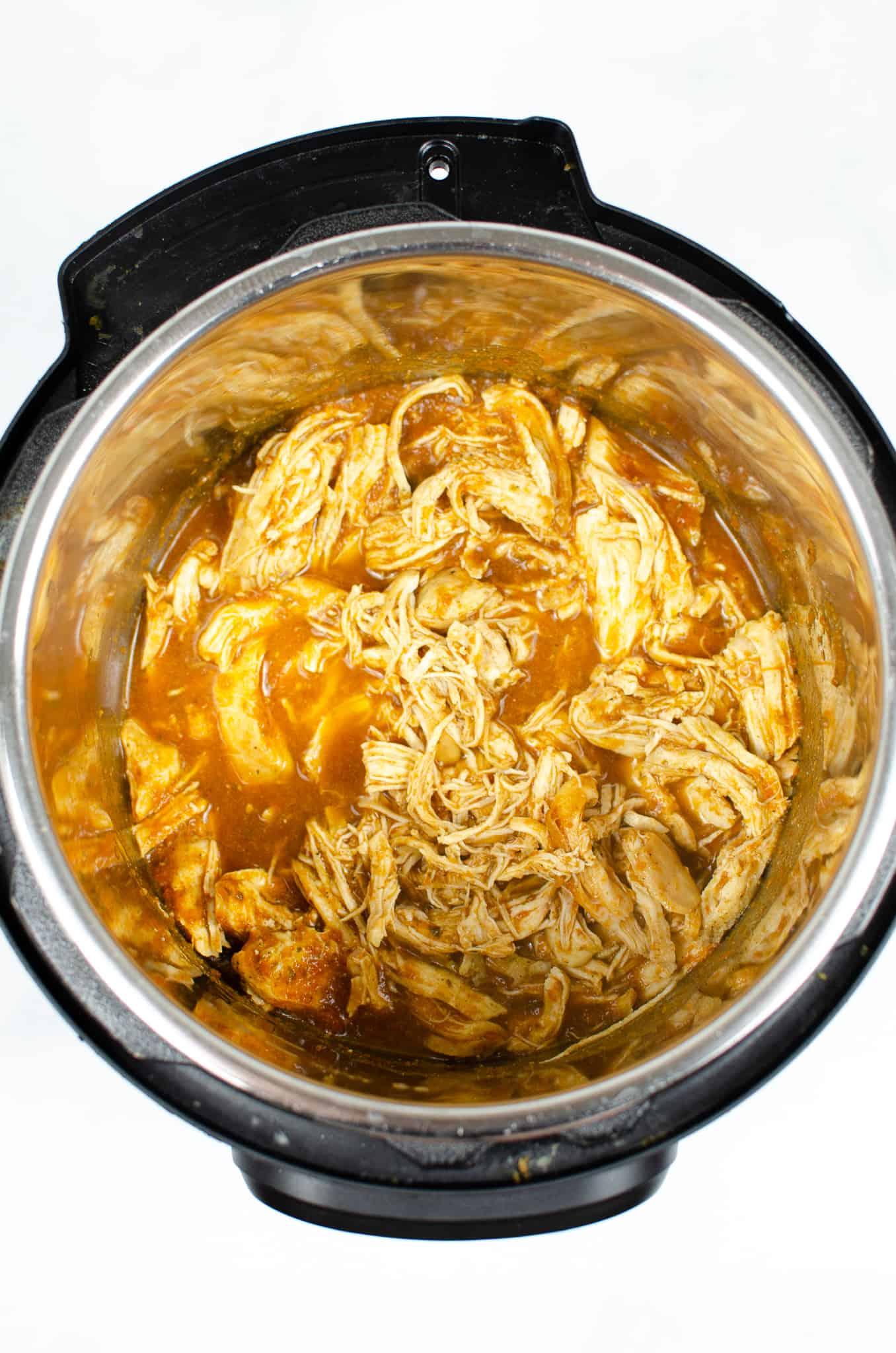 instant pot salsa chicken shredded in Instant Pot