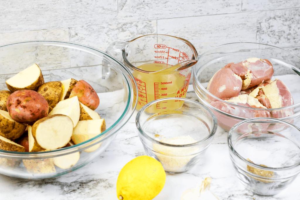 Instant Pot Chicken Thighs ingredients