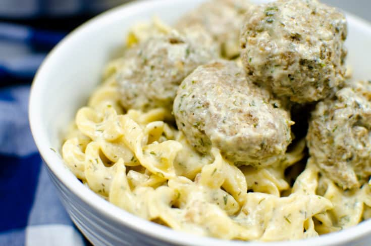 Easy Swedish Meatballs with Noodles