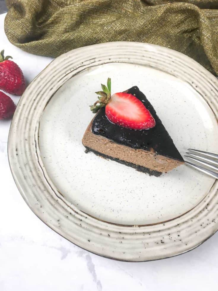 instant pot cheesecake with chocolate