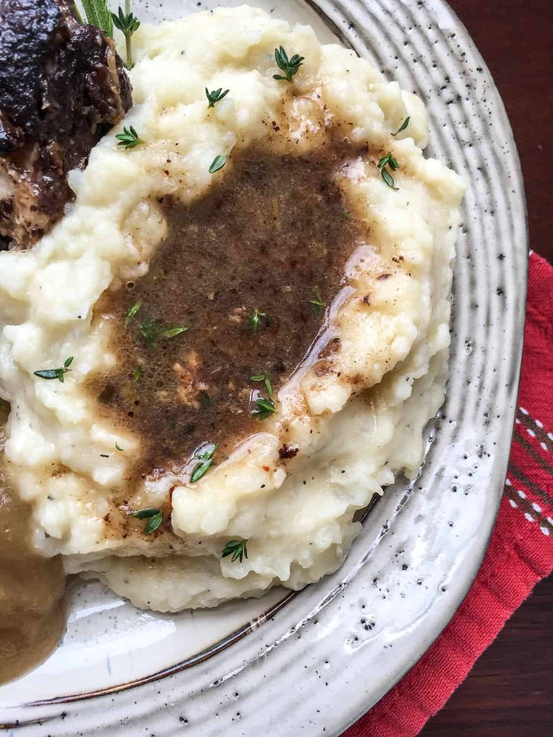 instant pot garlic mashed potatoes 1