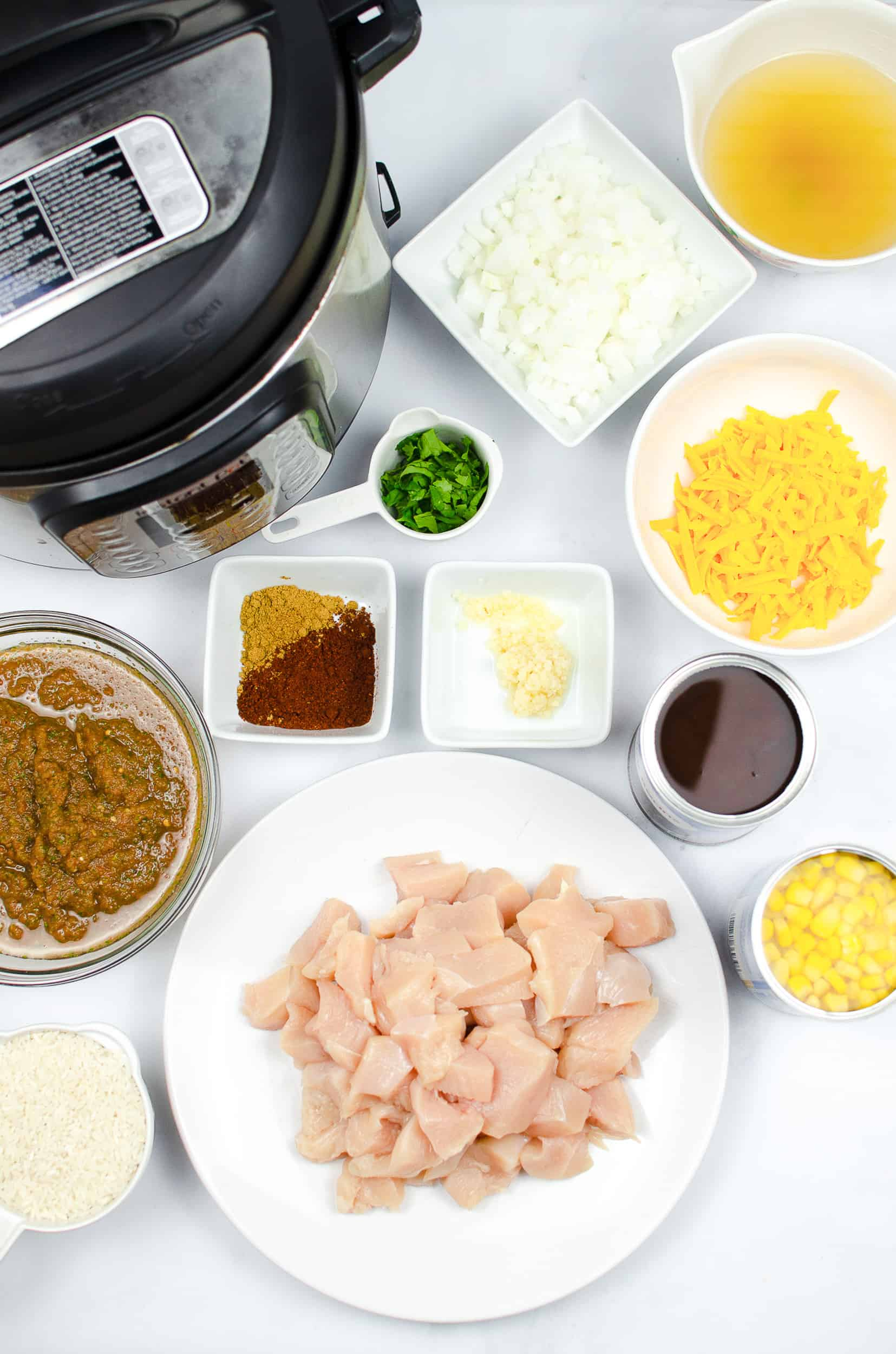 Chicken and Rice Burrito Bowl ingredients