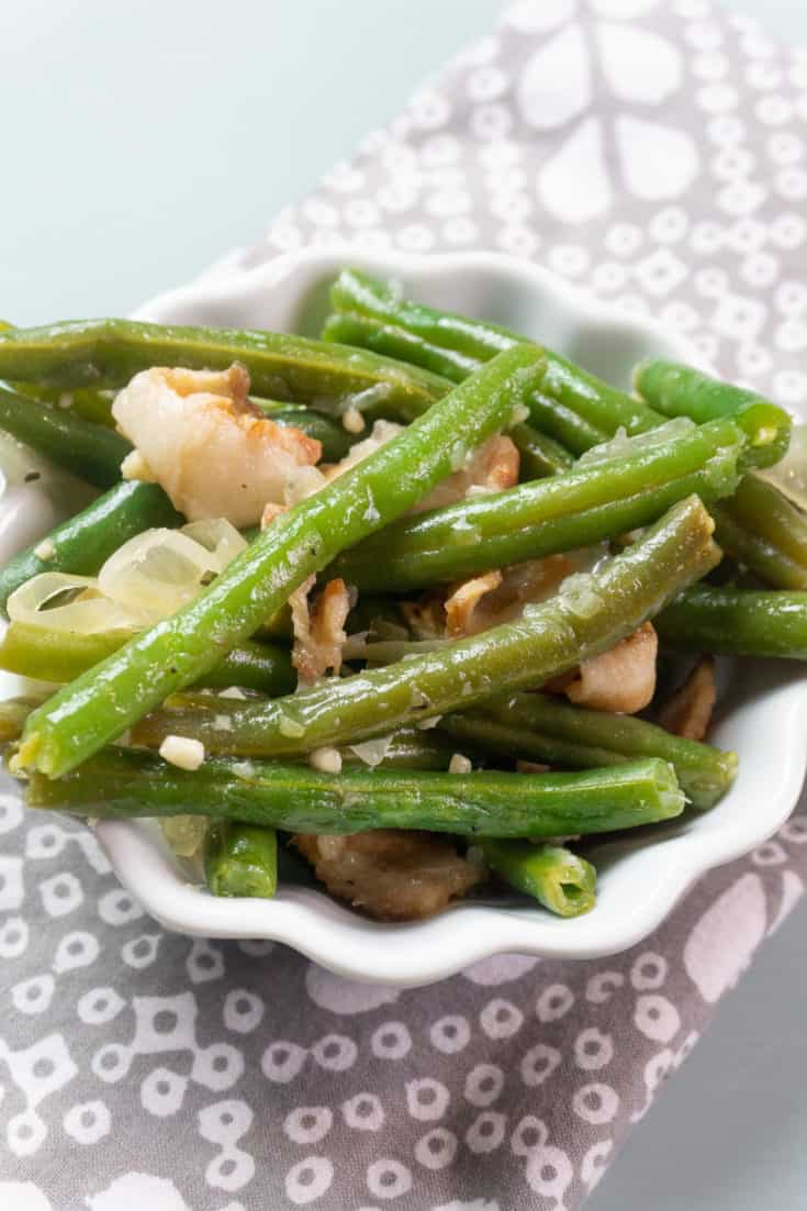 Instant Pot Southern Style Green Beans with Bacon