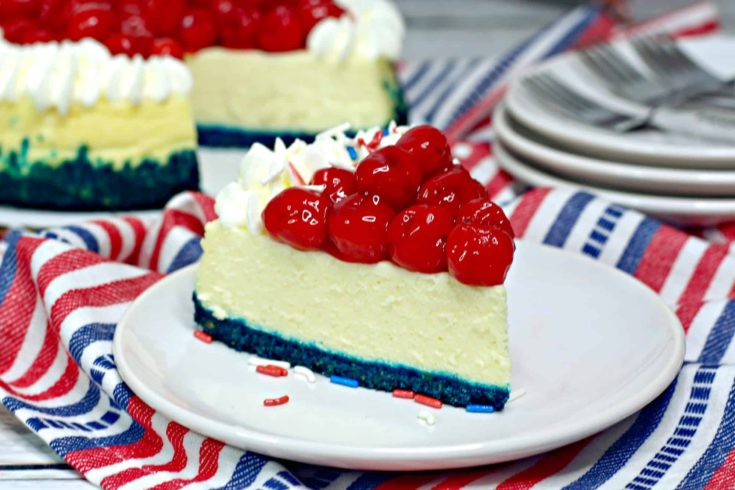 Instant Pot Red, White and Blue Cheesecake