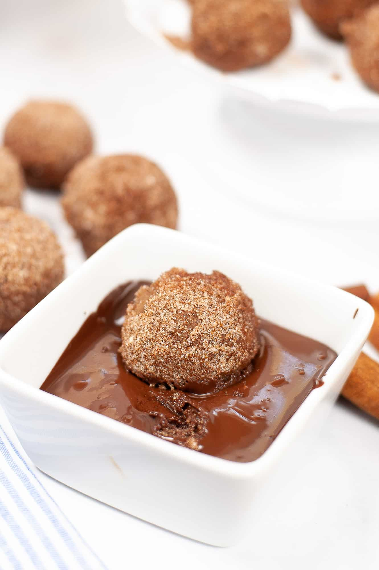 churro bite in chocolate