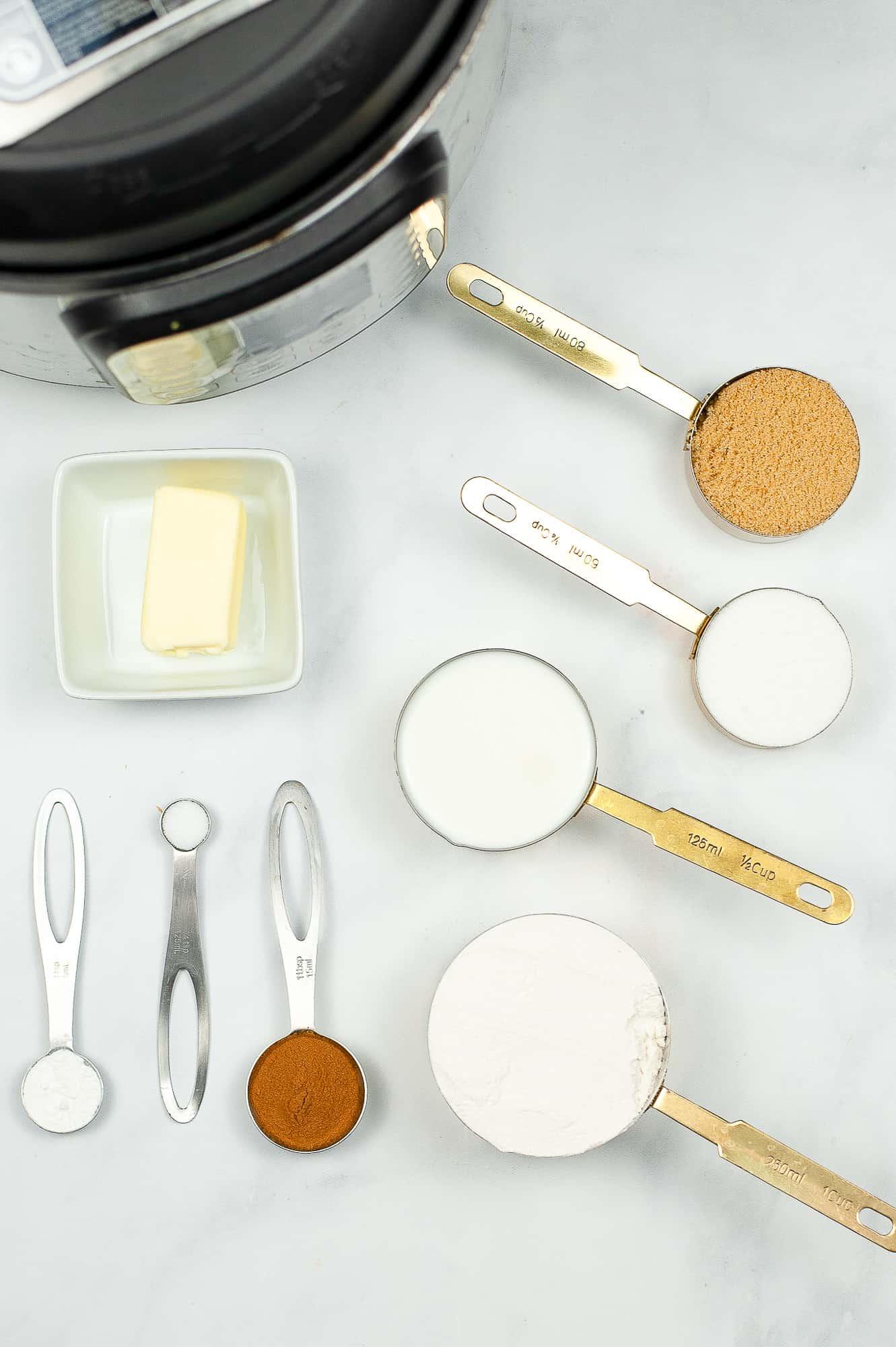 churros ingredients in measuring spoons