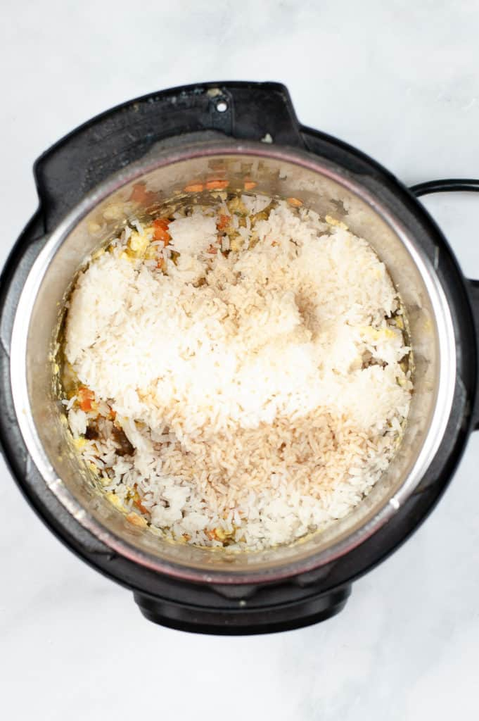ingredients for chicken fried rice in instant pot
