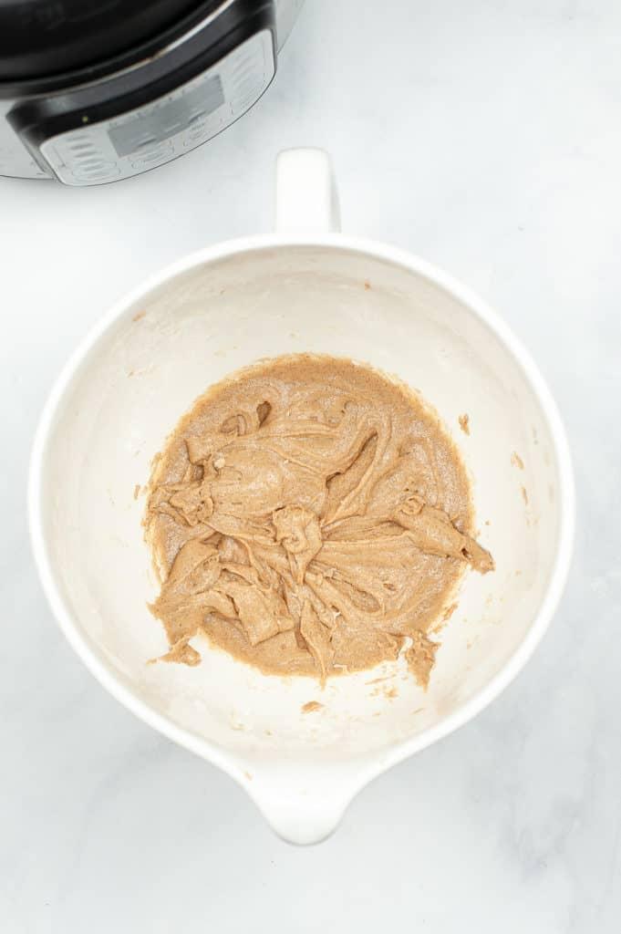 churros in mixing bowl