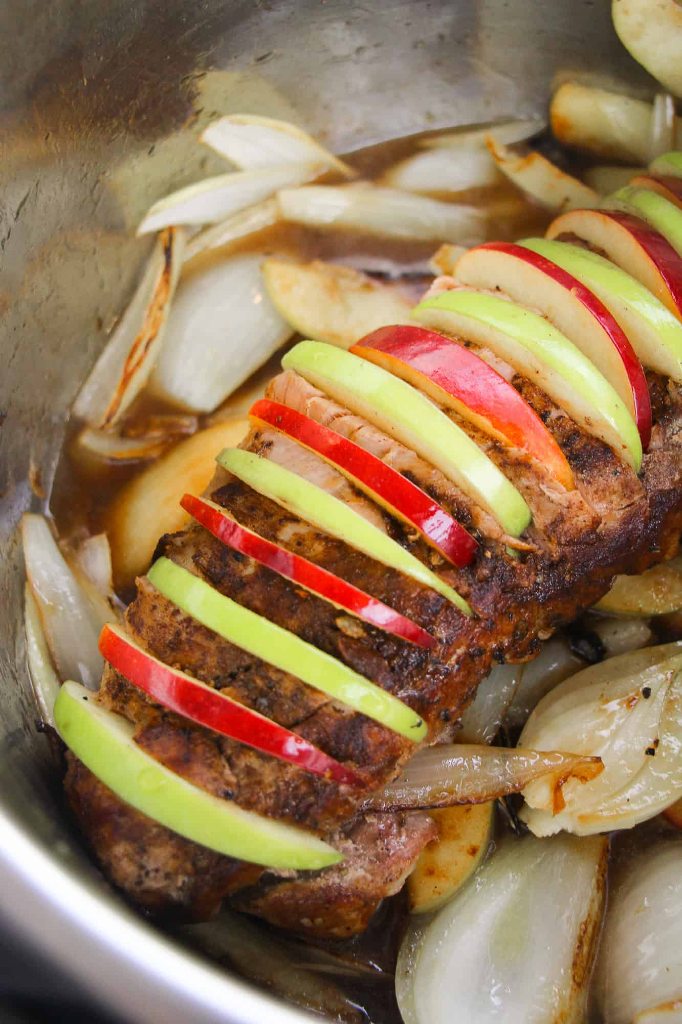 pork loin with apples in instant pot