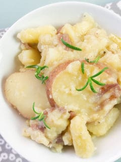 Buttered red potatoes
