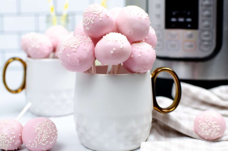starbucks pink cake pops in mug