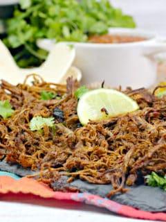 beef barbacoa on plate