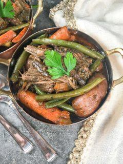 ninja foodi pot roast in bowl
