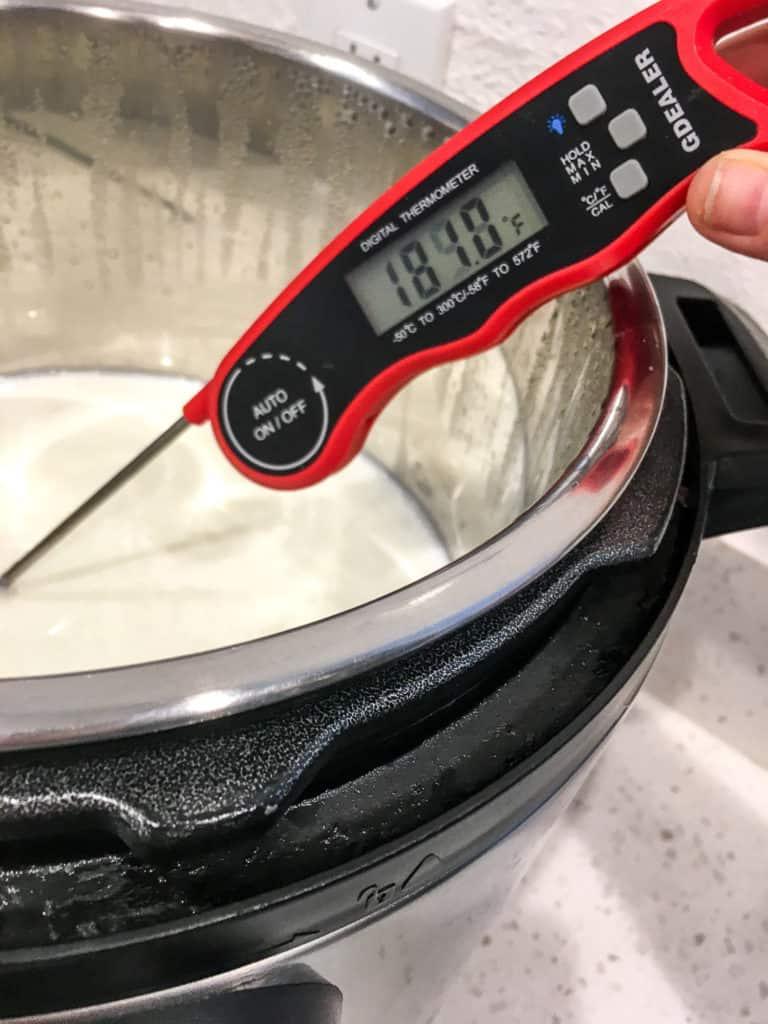 taking temp of milk in instant pot