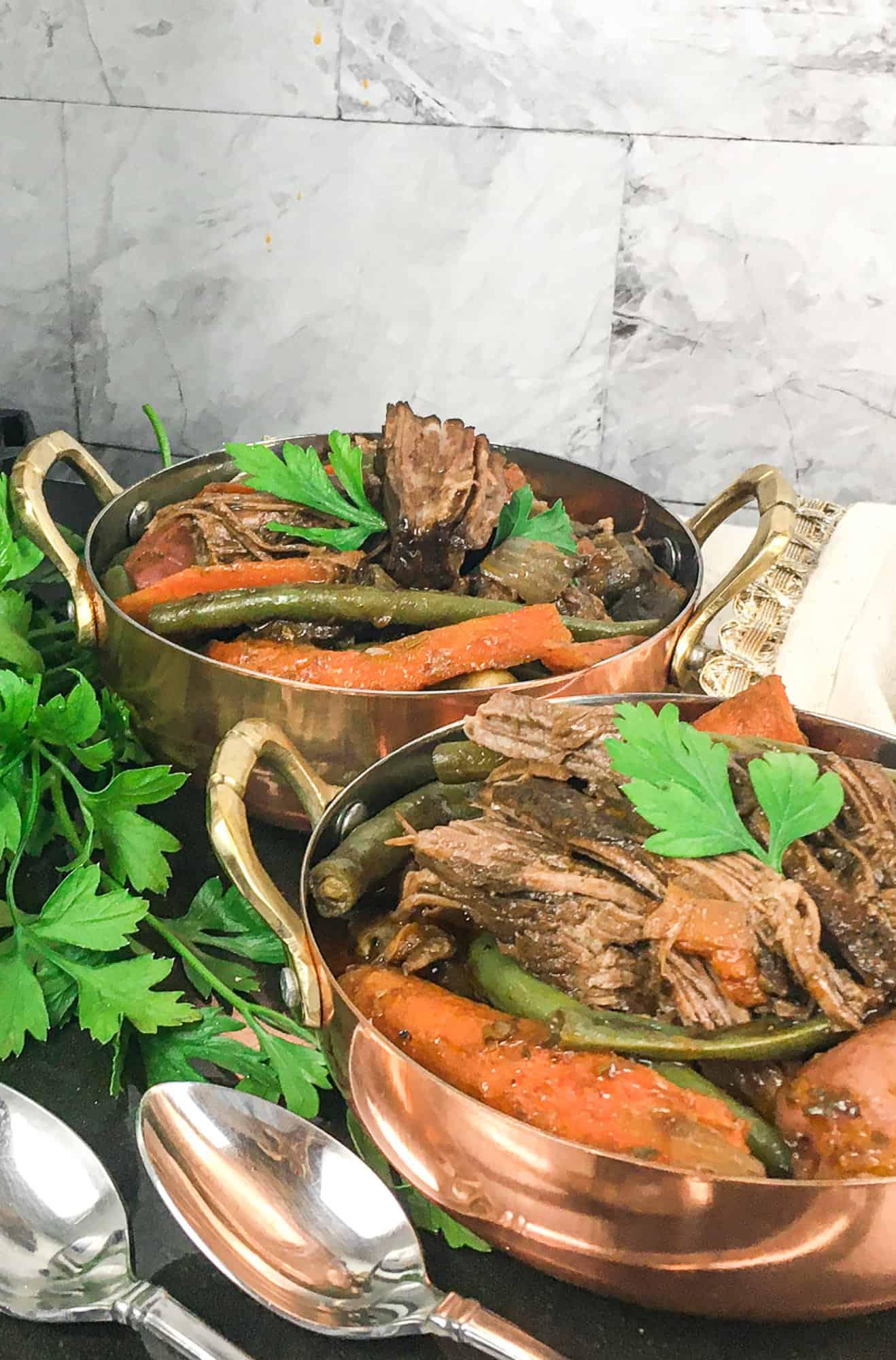 ninja foodi pot roast in bowls