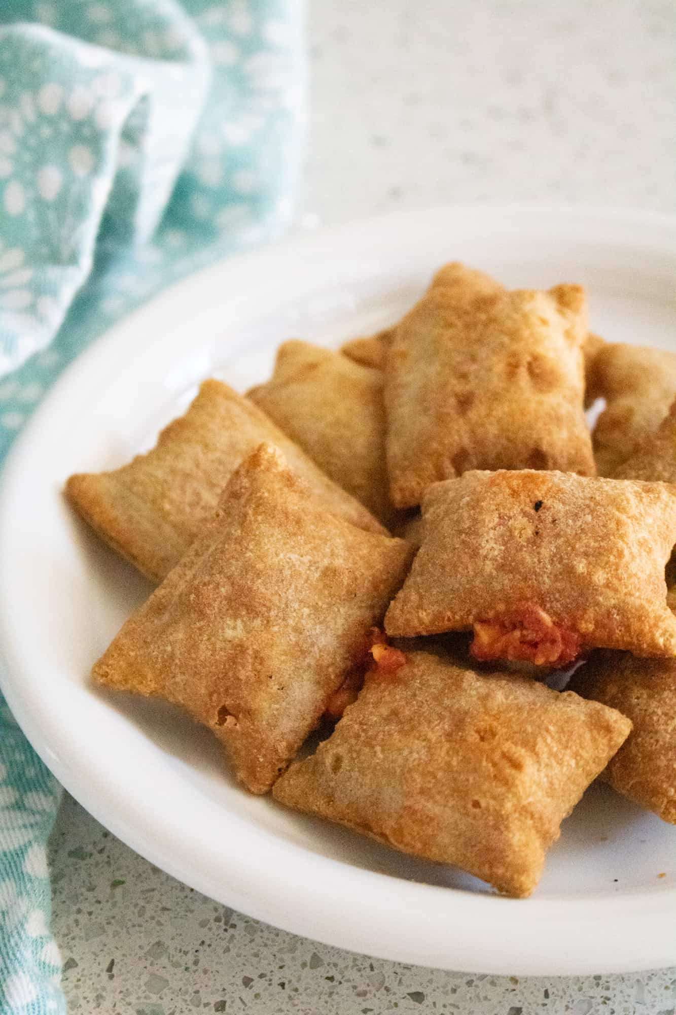 pizza roll on plate